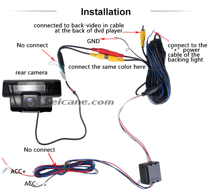 AUX 170° HD Waterproof Blue Ruler Night Vision Car Rear View Camera for 2009-2013 NEW Toyota VIOS free shipping