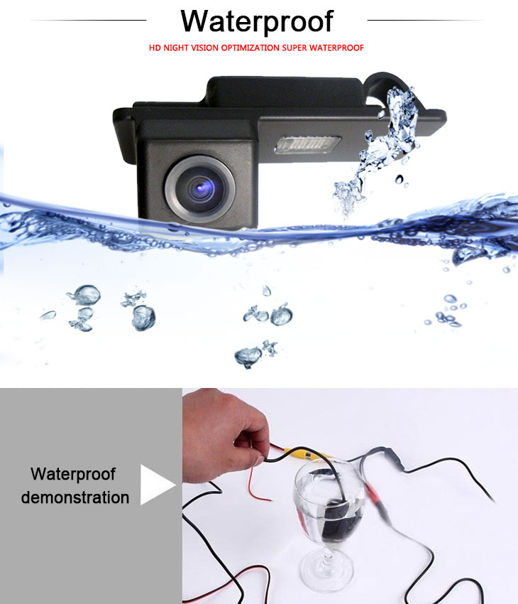 DVD Player 170° HD Waterproof Blue Ruler Night Vision Car Rear View Camera for Buick Avenue free shipping