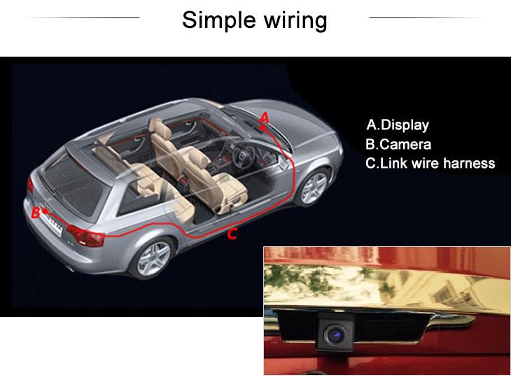 Digital TV 170° HD Waterproof Blue Ruler Night Vision Car Rear View Camera for Buick Avenue free shipping