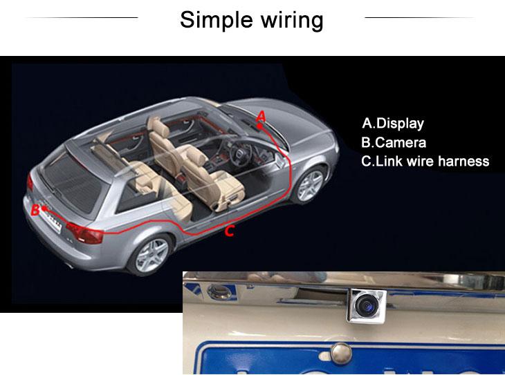 Digital TV 2009 Cadillac sls Car Rear View Camera with Blue Ruler Night Vision free shipping