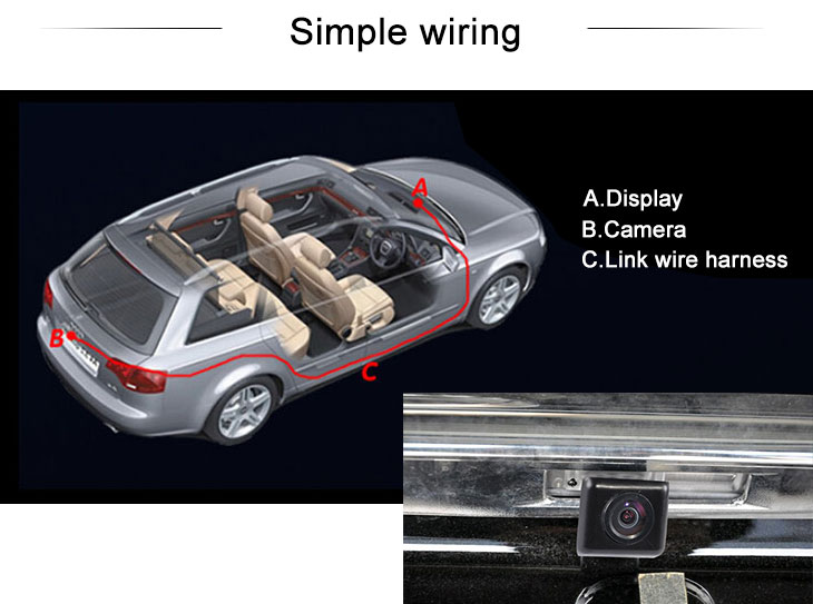Digital TV HD Wired Car Parking Backup Reversing Camera for Mazda 2 Mazda 3( two boxes three boxes) Waterproof Blue Ruler Night Vision free shipping