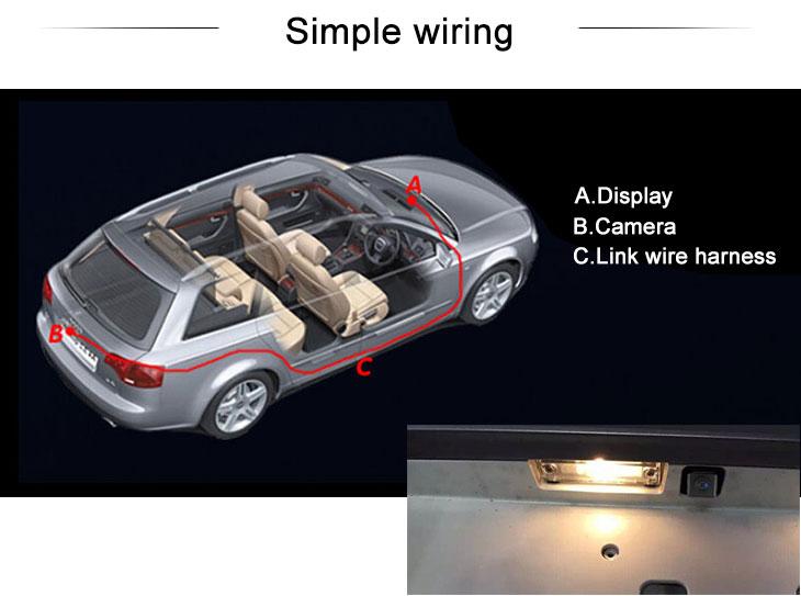 Digital TV HD Wired Carro estacionamento Backup Câmera para Mitsubishi Outlander à prova d'água azul régua Visão noturna Frete grátis