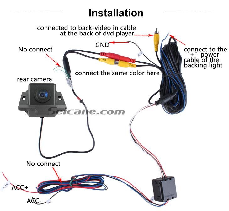 AUX HD cable coche Estacionamiento cámara de reserva para Mitsubishi Outlander a prueba de agua azul regla Vision nocturna envío gratis