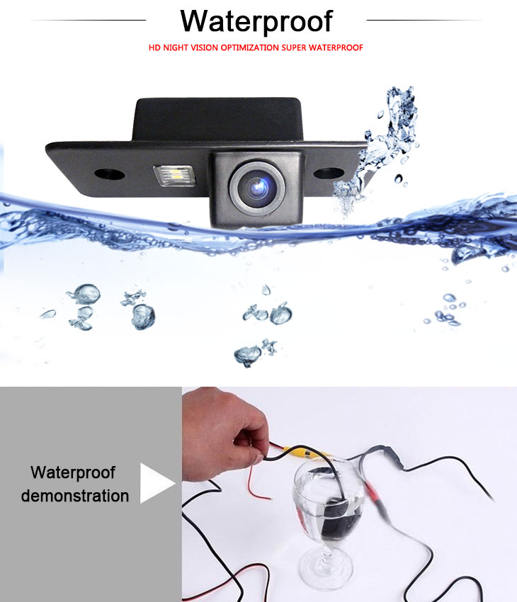 DVD Player 170° HD Waterproof Blue Ruler Night Vision Car Rearview Camera for 2008-2013 VW Volkswagen POLO three boxes free shipping