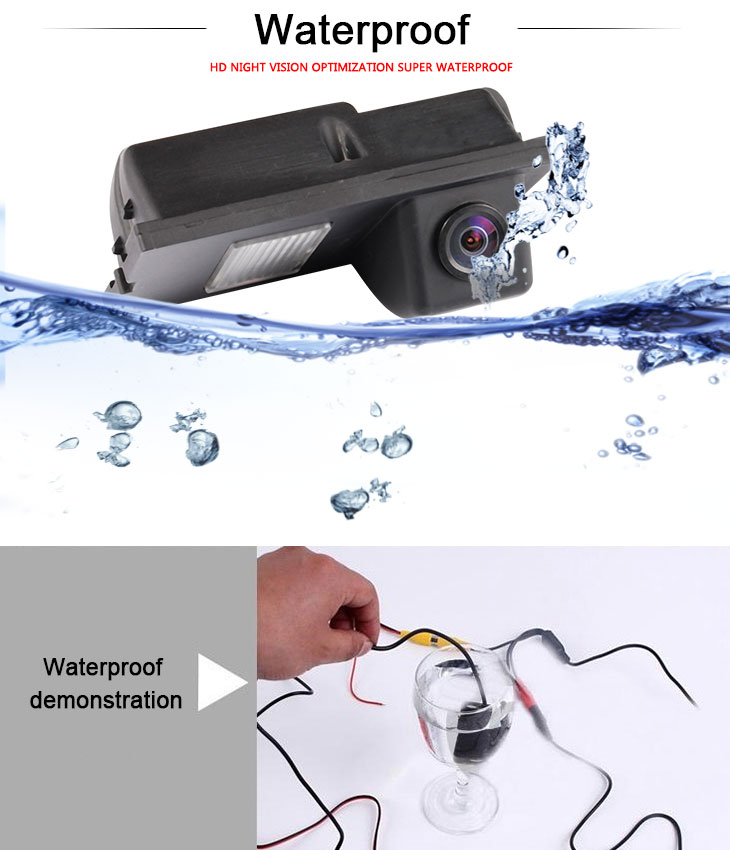 DVD Player HD Wired Car Parking Backup Reversing Camera for 2008-2011 Freelander 2 2008-2011 Discovery  Waterproof Blue Ruler Night Vision free shipping