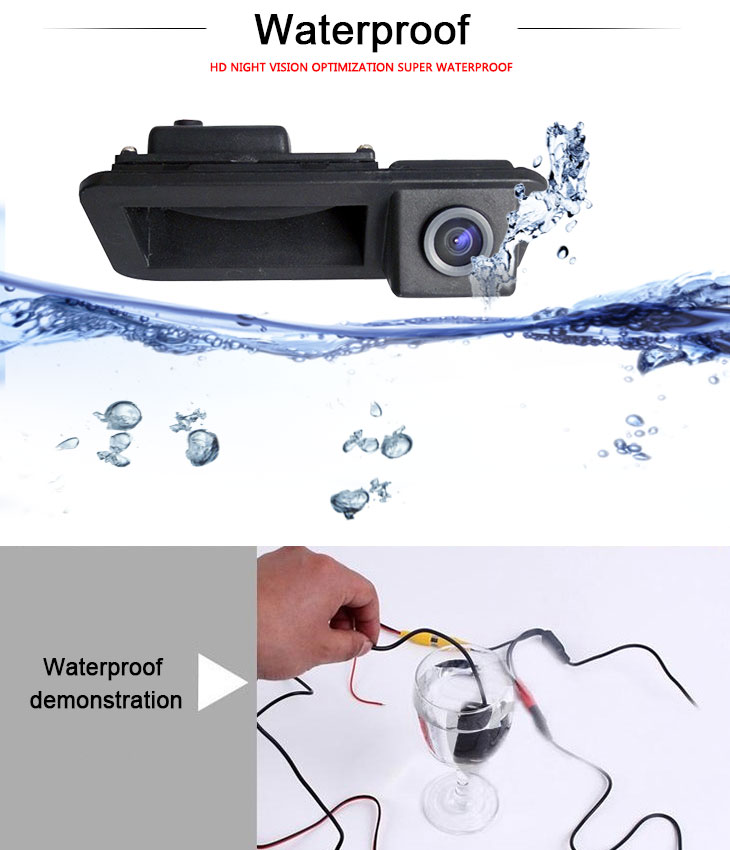 DVD Player 170° HD Waterproof Blue Ruler Night Vision Car Rear View Camera for Ford Mondeo Smax Fiesta Focus three boxes 2007-2011 Focus two boxes three boxes free shipping
