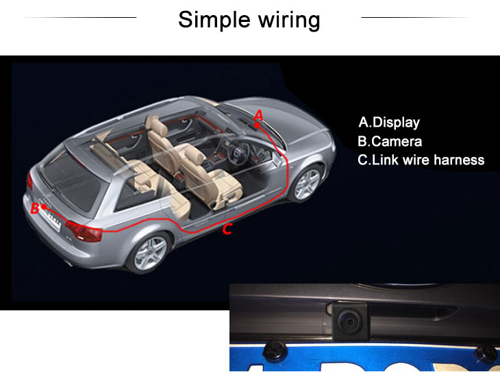 Digital TV SUZUKI SX4 two boxes Car Rear View Camera with Blue Ruler Night Vision free shipping