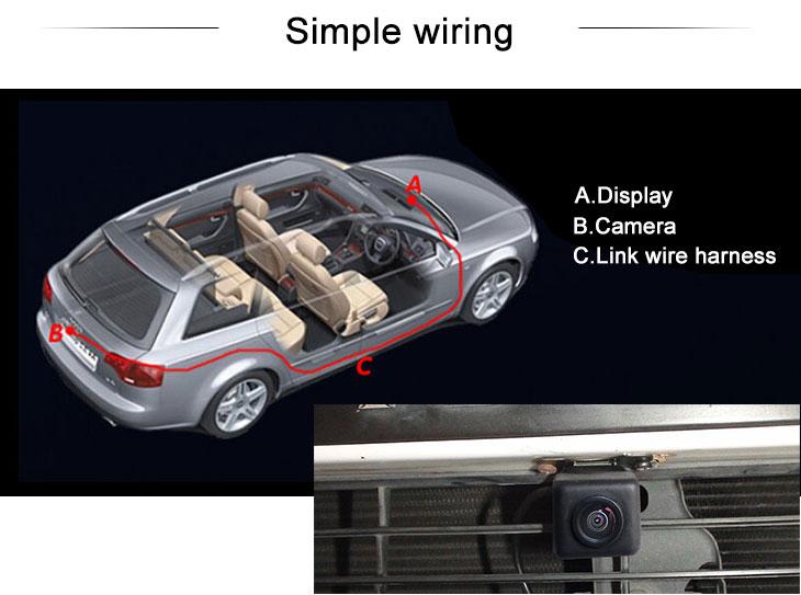 Digital TV 2008-2010 Mazda 5 Car Rear View Camera with Blue Ruler Night Vision free shipping