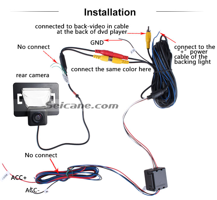 AUX 2008-2010 Mazda 5 Car Rear View Camera with Blue Ruler Night Vision free shipping
