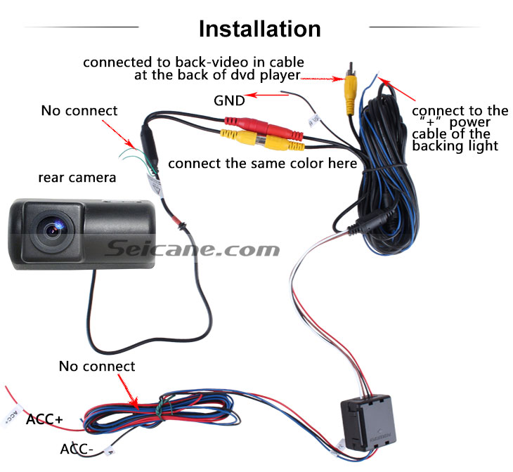 AUX Ford Transit RV Car Rear View Camera with Blue Ruler Night Vision free shipping