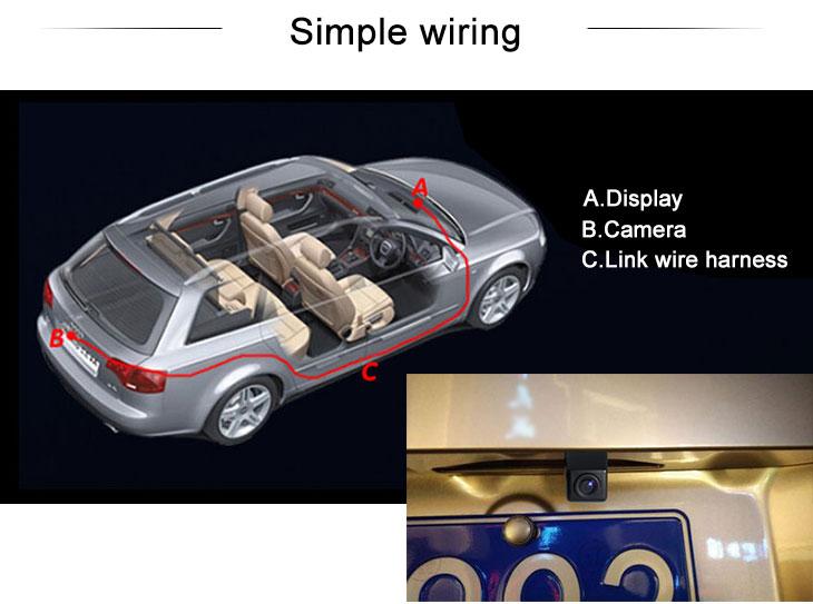 Digital TV Hyundai SONATA Car Rear View Camera with Blue Ruler Night Vision free shipping