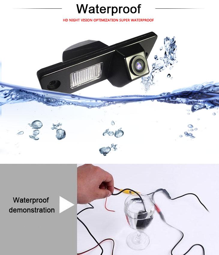 DVD Player HD Wired Car Parking Backup Reversing Camera for 2008-2013 Opel Antara Waterproof Blue Ruler Night Vision free shipping
