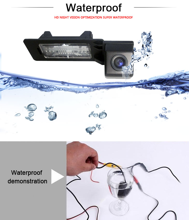 DVD Player 170° HD Waterproof Blue Ruler Night Vision Car Rearview Camera for 2010 2011 Audi A4L Q5 free shipping