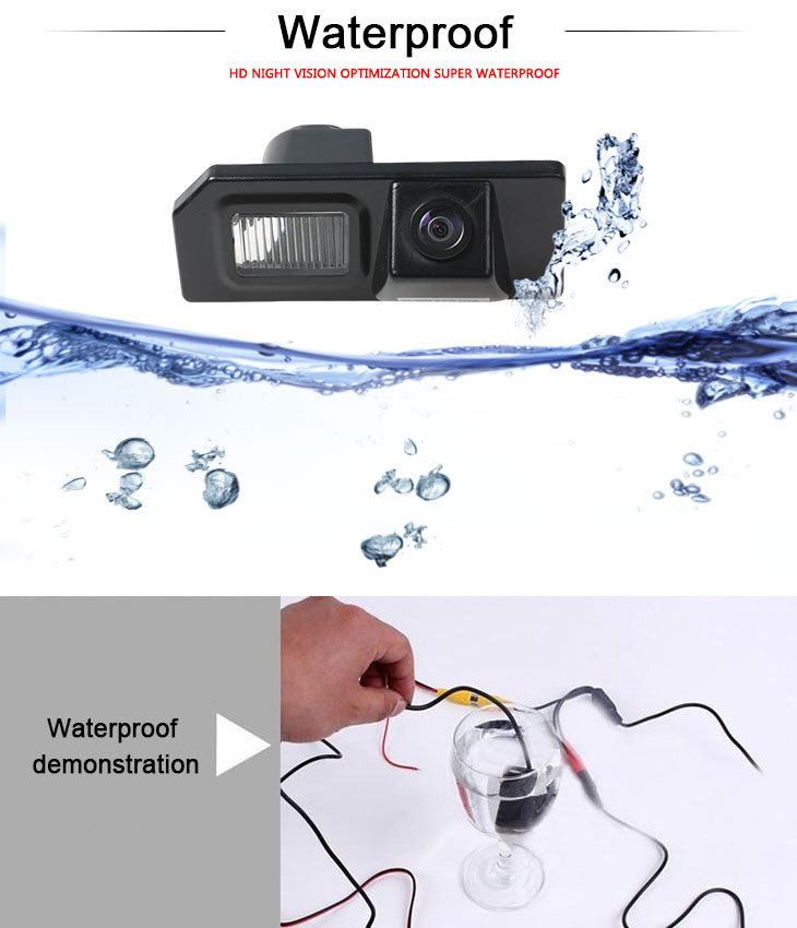 DVD Player HD Wired Car Parking Backup Reversing Camera for Mitsubishi ASX  Waterproof Blue Ruler Night Vision free shipping