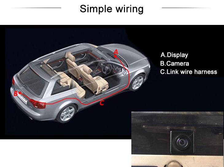 Digital TV HD Wired Car Parking Backup Reversing Camera for Mitsubishi ASX  Waterproof Blue Ruler Night Vision free shipping