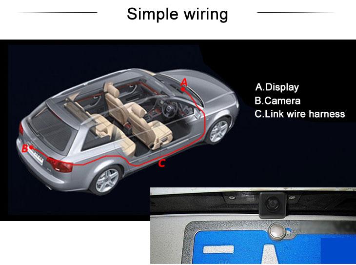 Digital TV HD filaire voiture caméra de recul pour 2011-2013 KIA sportage r Imperméable Bleu règle Vision nocturne livraison gratuite