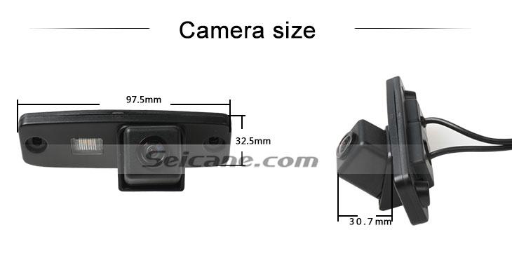 Steering wheel controls HD filaire voiture caméra de recul pour 2011-2013 KIA sportage r Imperméable Bleu règle Vision nocturne livraison gratuite