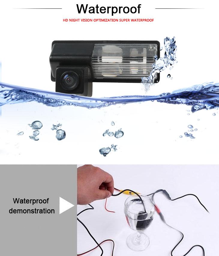 DVD Player 170° HD à prova d'água azul régua Visão noturna Carro Retrovisor Câmera para SUZUKI three boxes Frete grátis
