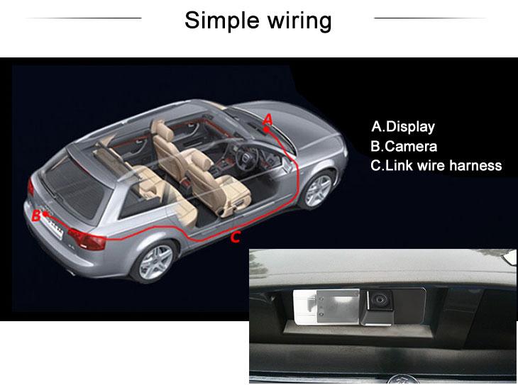 Digital TV 170° HD Waterproof Blue Ruler Night Vision Car Rear View Camera for KIA K5 OPTIMA free shipping