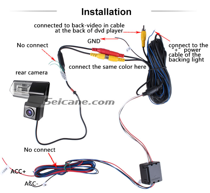 AUX 2011-2013 NEW Nissan Tiida Car Rear View Camera with Blue Ruler Night Vision free shipping