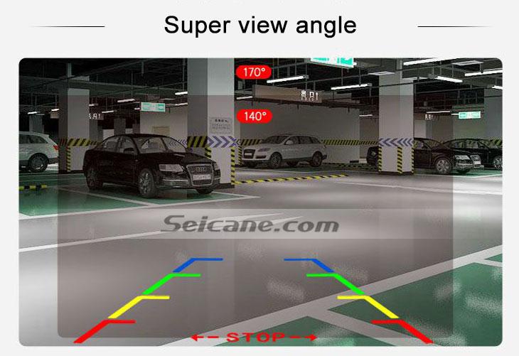 IPOD HD Wired Car Parking Backup Reversing Camera for SUZUKI Kizashi  Waterproof Blue Ruler Night Vision free shipping