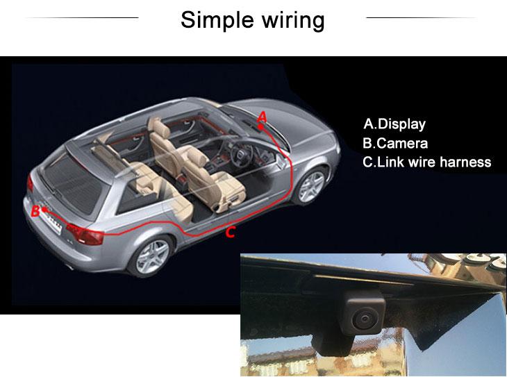 Digital TV HD Wired Car Parking Backup Reversing Camera for SUZUKI Kizashi  Waterproof Blue Ruler Night Vision free shipping