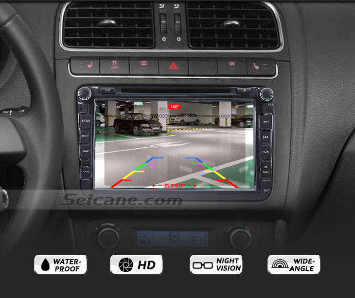 Functions 170° HD a prueba de agua azul regla Vision nocturna coche visión trasera cámara para 2014 Toyota COROLLA envío gratis
