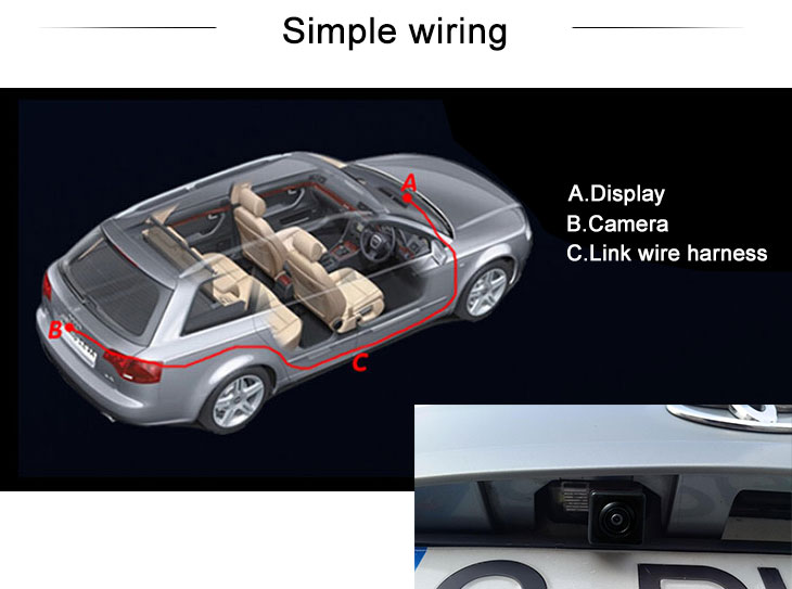 Digital TV 170° HD wasserdicht blau Herrscher Nachtsicht Auto Rückfahr kamera für 2014 Toyota COROLLA Versand kostenfrei