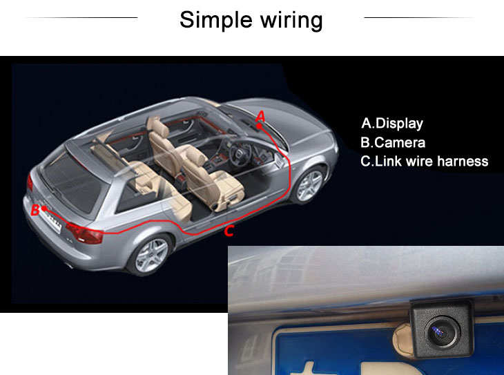 Digital TV 2011-2013 NEW Hyundai elantra Car Rear View Camera with Blue Ruler Night Vision free shipping