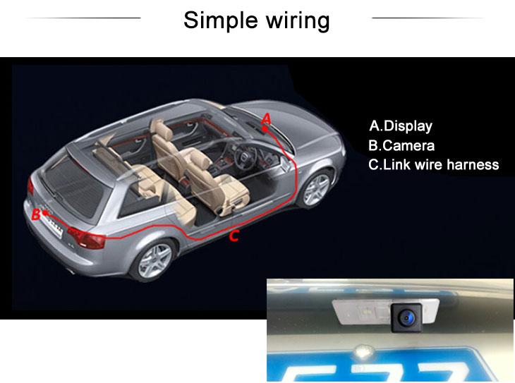 Digital TV 170° HD Imperméable Bleu règle Vision nocturne voiture arrière Caméra pour 2012-2013 Lexus ES-250 livraison gratuite