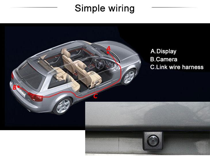 Digital TV 170° HD Imperméable Bleu règle Vision nocturne voiture arrière Caméra pour 2011-2013 NEW Hyundai elantra livraison gratuite