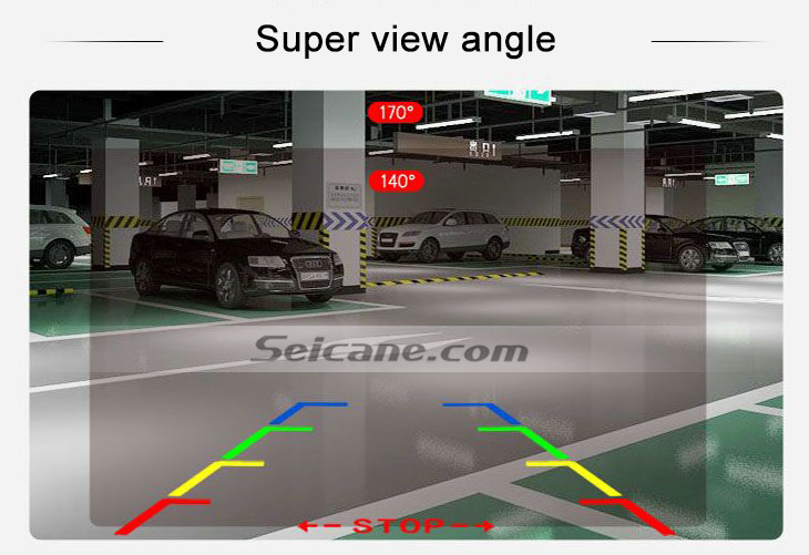 IPOD HD Wired Car Parking Backup Reversing Camera for 2013 Lexus IS Waterproof Blue Ruler Night Vision free shipping
