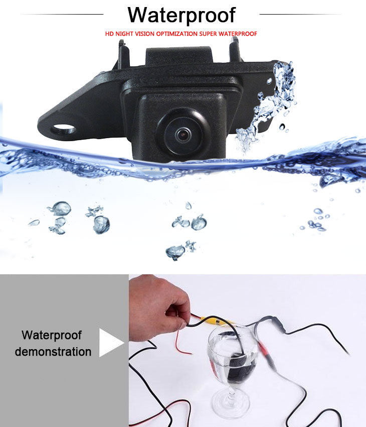 DVD Player 170° HD Waterproof Blue Ruler Night Vision Car Rear View Camera for 2013 NEW Mitsubishi ASX free shipping