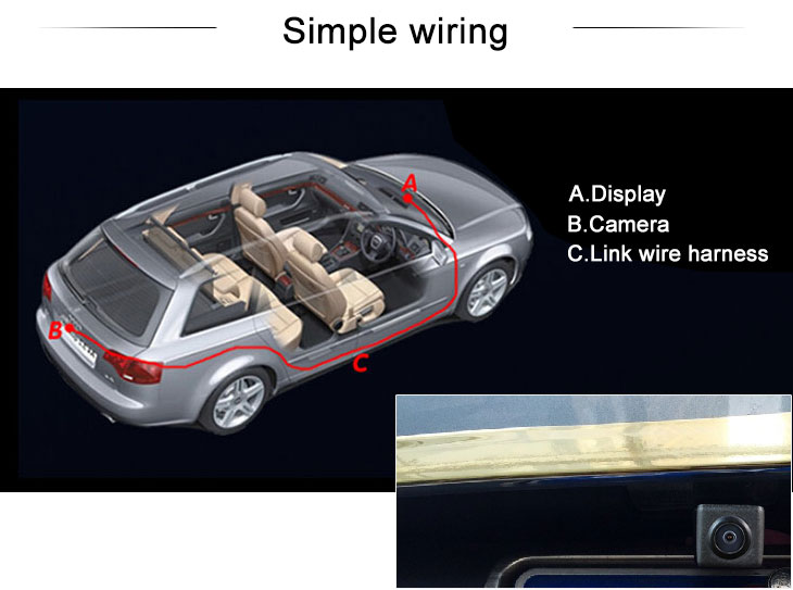 Digital TV Ford Escape Kuga、2013 NEW Mondeo Car Rear View Camera with Blue Ruler Night Vision free shipping