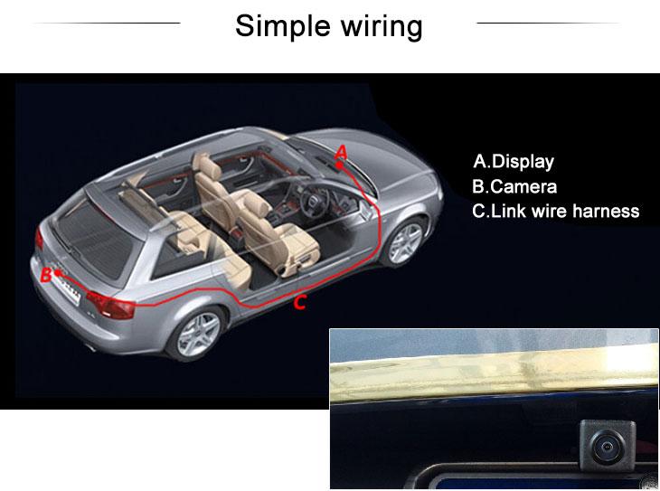Digital TV Ford Escape Kuga、2013 NEW Mondeo Carro Retrovisor Câmera com azul régua Visão noturna Frete grátis