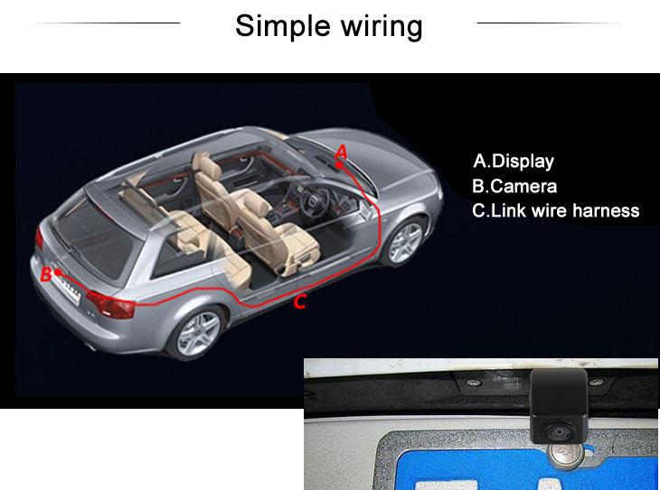 Digital TV HD 600 TV Lines Wired Car Parking Backup Reversing Camera for Ssangyong ActYon Waterproof Night Vision free shipping