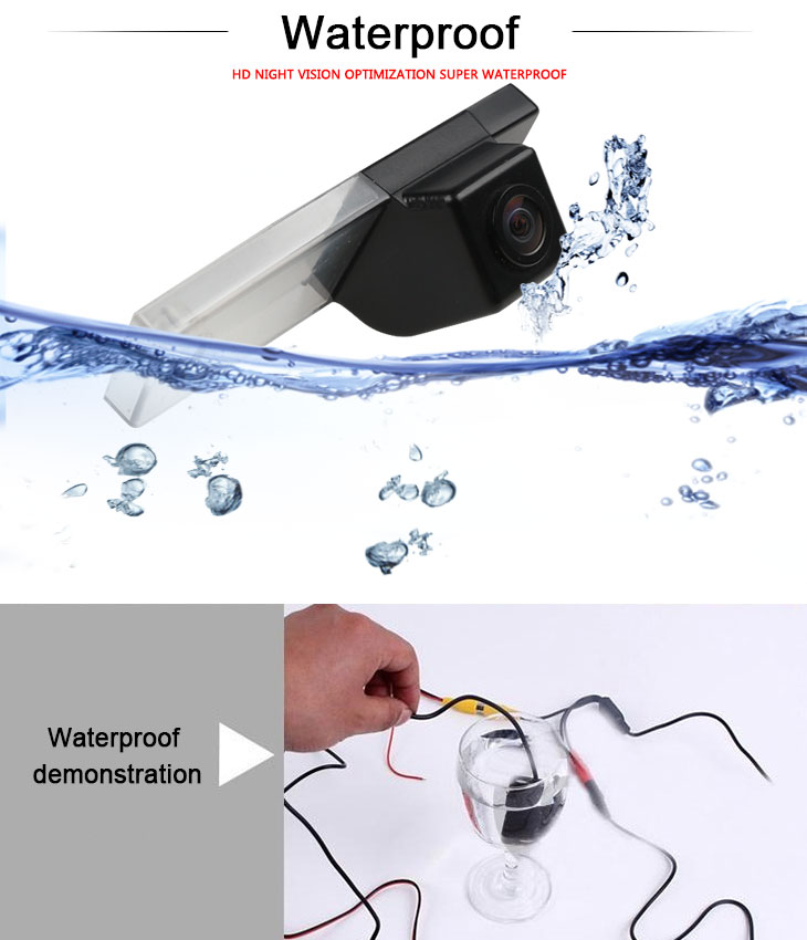 DVD Player HD 600 TV Lines Wired Car Parking Backup Reversing Camera for Toyota INNOVA Toyota Fortuner 4 runner Night Vision Waterproof free shipping