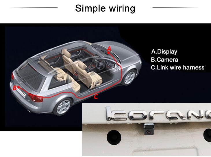 Digital TV Venda quente Ssangyong Korando Car Câmara de visão traseira com régua de quatro cores e logotipo da LR Night Vision frete grátis