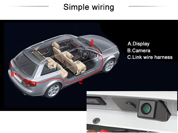 Digital TV HD SONY CCD 600 TV Lines Wired Waterproof Car Parking Backup Reversing Camera for TOYOTA HILUX Night Vision free shipping
