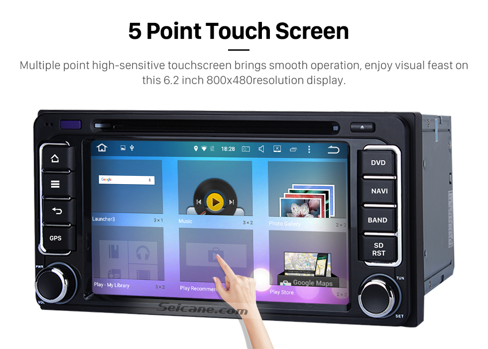 Seicane Android 6.0 Aftermarket Car Radio GPS Navigation System for 2001-2008 TOYOTA RAV4 with DVD Player Bluetooth WiFi Mirror Link Steering Wheel Control 1080P Video