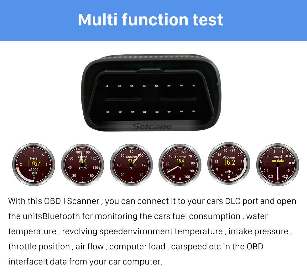 Seicane Seicane-Newest Super Mini V1.5 ELM327 OBD OBD2  ELM327 Bluetooth Interface Auto Car Scanner Diagnostic Tool