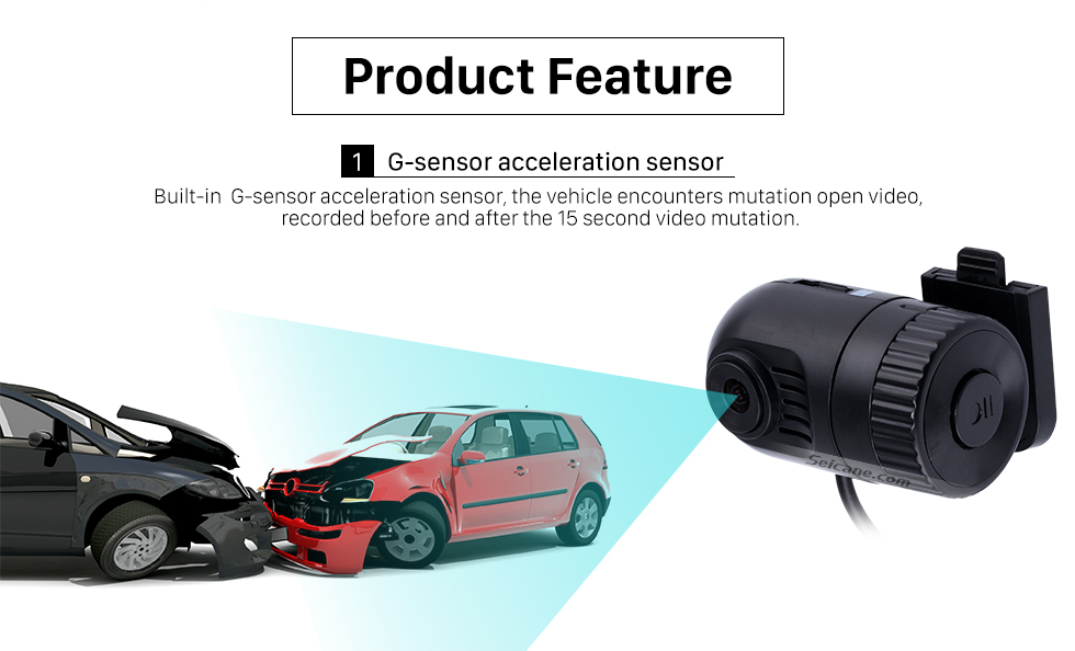 Seicane Cheap Night Vision Security Camera Car DVR Camera with AUX connection G-sensor DateSetting Motion Detection LoopRecording Free Shipping
