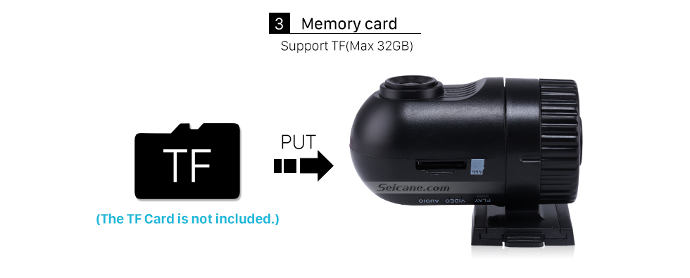 Seicane Дешевое ночного видения камеры безопасности автомобиля DVR камера с G-датчика Установка даты обнаружения движения Цикл записи Бесплатная доставка