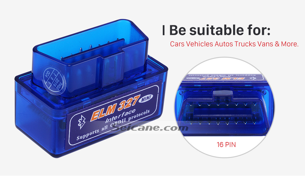 Be suitable for Seicane-Newest Super Mini V1.5 ELM327 OBD OBD2  ELM327 Bluetooth Interface Auto Car Scanner Diagnostic Tool