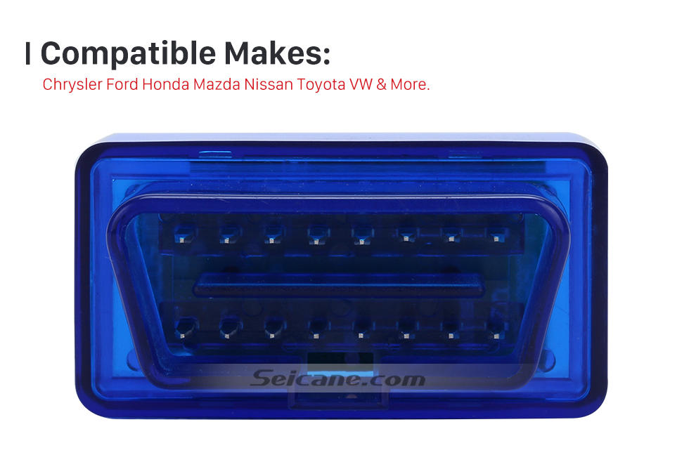 Compatible Makes Seicane-Newest Super Mini V1.5 ELM327 OBD OBD2  ELM327 Bluetooth Interface Auto Car Scanner Diagnostic Tool