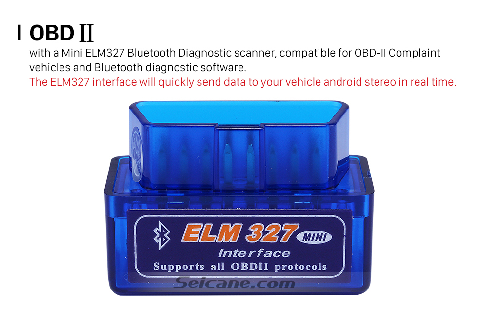 OBD II Seicane-Newest Super Mini V1.5 ELM327 OBD OBD2  ELM327 Bluetooth Interface Auto Car Scanner Diagnostic Tool