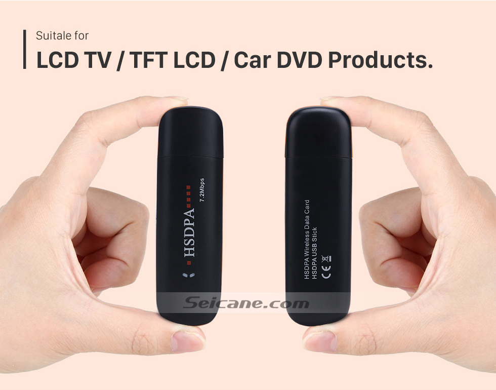 LCD TV/TFT LCD/Car DVD products. Seicane Modem External 3G  Module for Car DVD Player with Internet