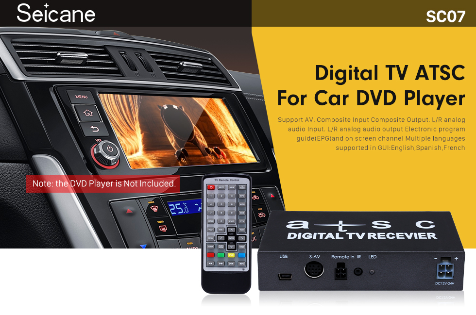 Seicane Digital TV ATSC For Seicane Car DVD Player