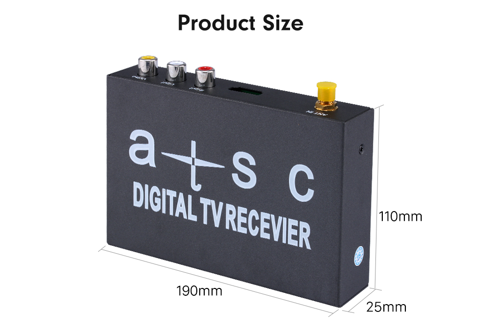 Product Size Digital TV ATSC For Seicane Car DVD Player