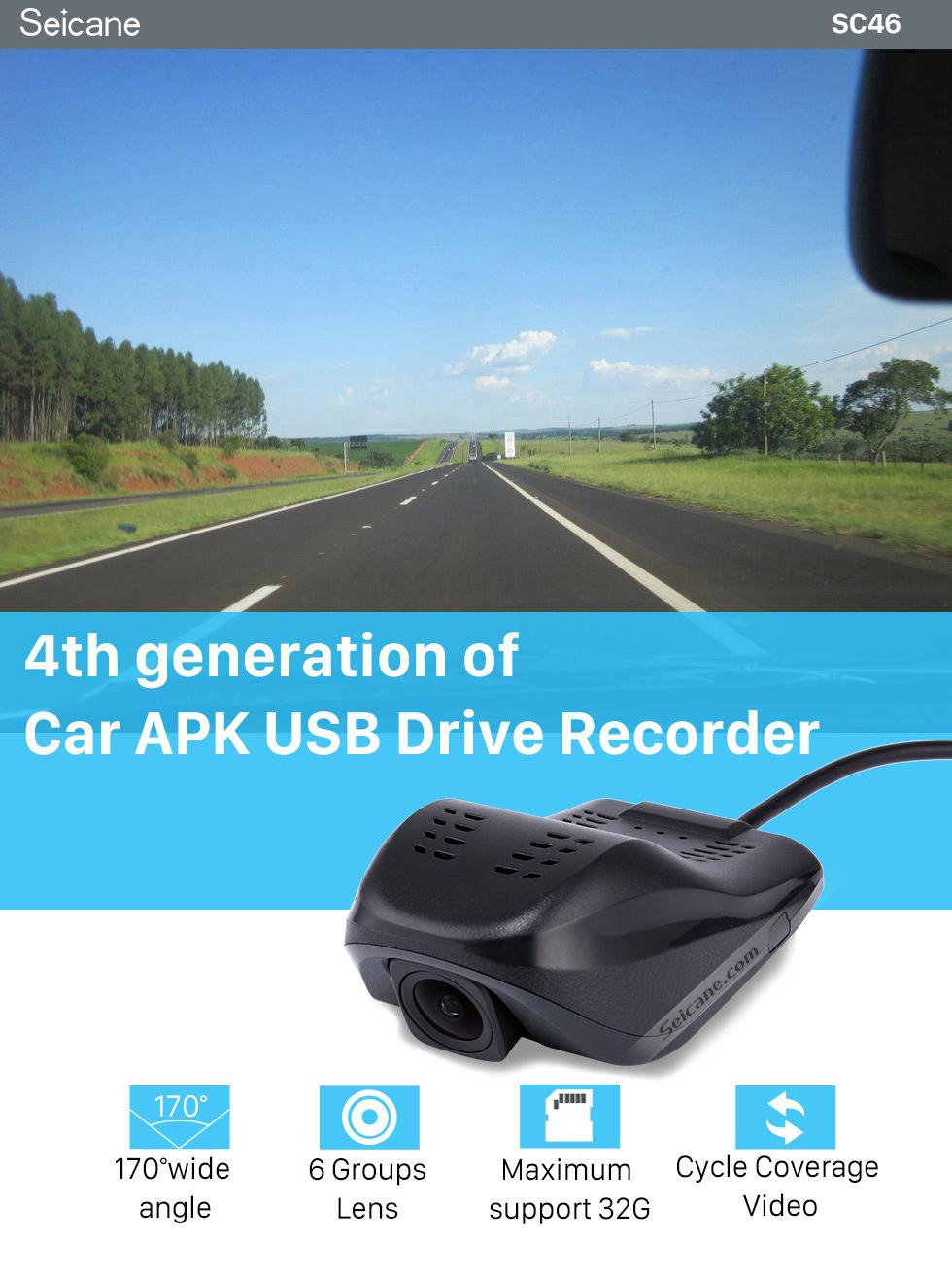 Seicane Plein Caméra HD 1920x1080P voiture DVR enregistreur vidéo Pour S100 S150 S160 Series DVD Stéréo Headunit Radio Avec H.264 Vidéo Code
